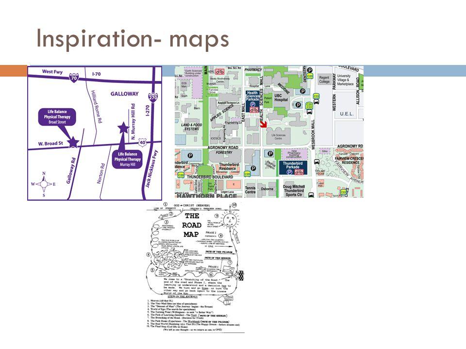 Inspiration- maps
