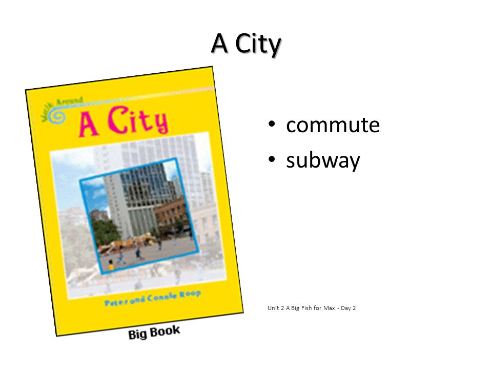A City commute subway Unit 2 A Big Fish for Max - Day 2