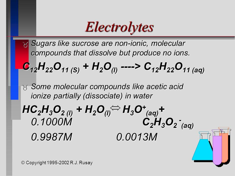 © Copyright 1995-2002 R.J.Rusay Aqueous Bases  Any compound that accepts a proton is a base.