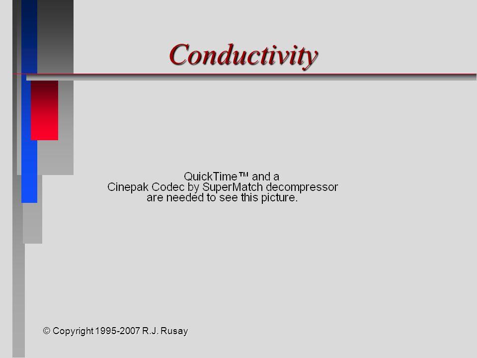 © Copyright 1995-2007 R.J. Rusay Conductivity