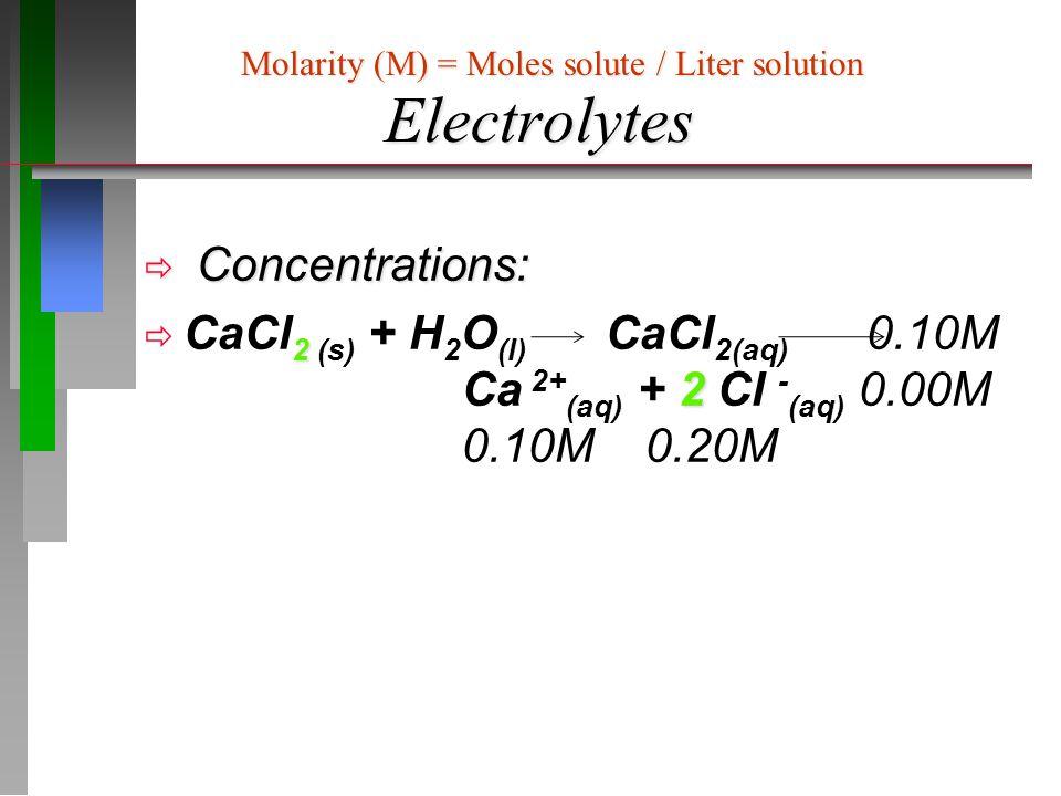 Aqueous Reactions: Precipitation Net Ionic Equations Na 2 SO 4(aq) + 2 AgNO 3(aq) Ag 2 SO 4(s) + 2 NaNO 3(aq) Overall Ionic Reaction: 2Na + (aq) + SO 4 2- (aq) +2Ag + (aq) + 2NO 3 1- (aq) 2Na + (aq) + Ag 2 SO 4(s) + 2NO 3 1- (aq) Net Ionic Equation: (Subtract Spectator Ions) 2Ag + (aq) + SO 4 2- (aq) Ag 2 SO 4(s) = M Na2SO4 xV Na2SO4 / 1:1 stoichiometry = 0.10M x 0.050 L/ 1 = 0.0050 mol How many moles.