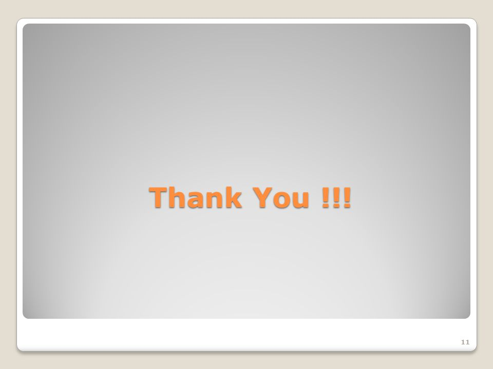 Thank You !!! 11