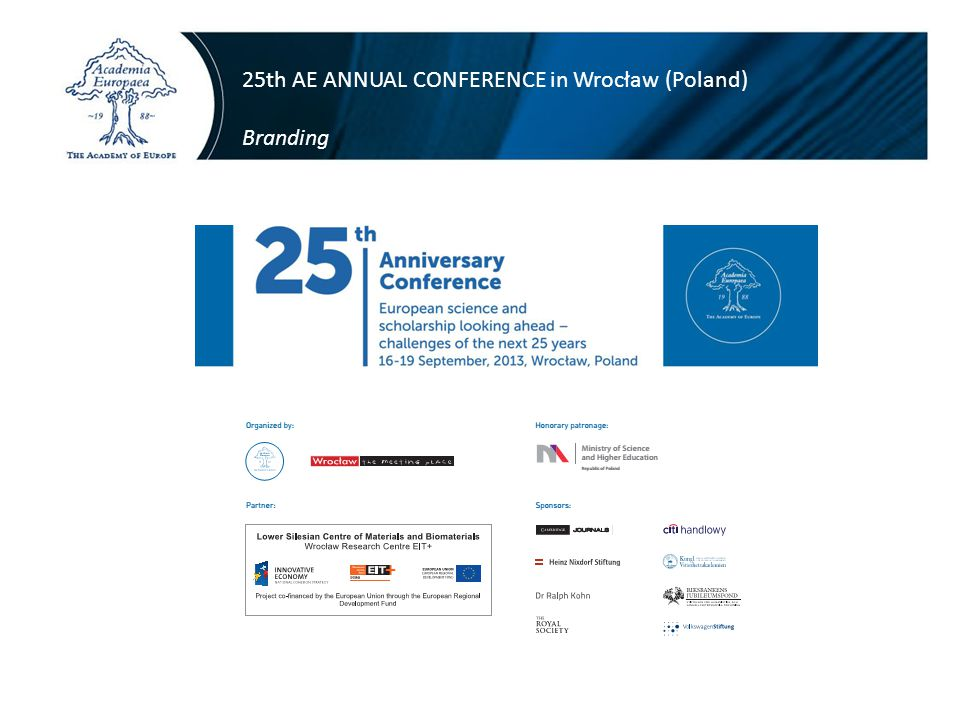 25th AE ANNUAL CONFERENCE in Wrocław (Poland) Branding