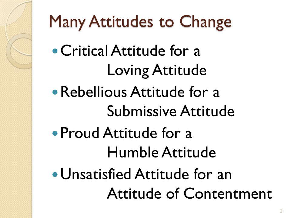 Two Important Attitudes Attitude of Thanksgiving Complaining Attitude for an Attitude of Thanksgiving Attitude of Faith Doubting Attitude for an Attitude of Faith 4