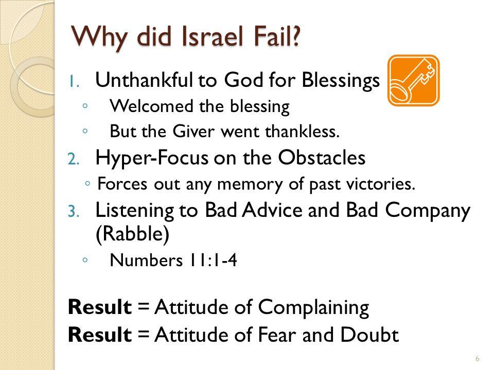 Why did Israel Fail.
