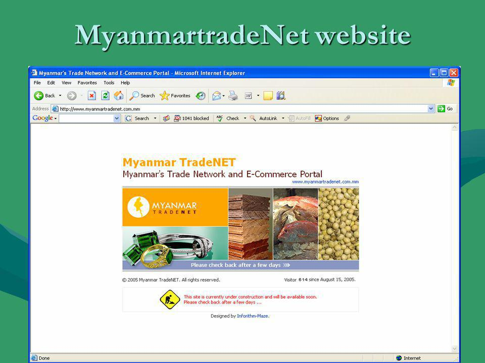 MyanmartradeNet website