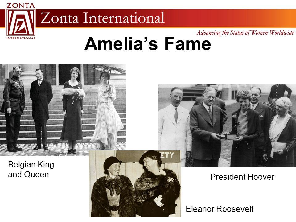 Amelia's Fame Belgian King and Queen President Hoover Eleanor Roosevelt