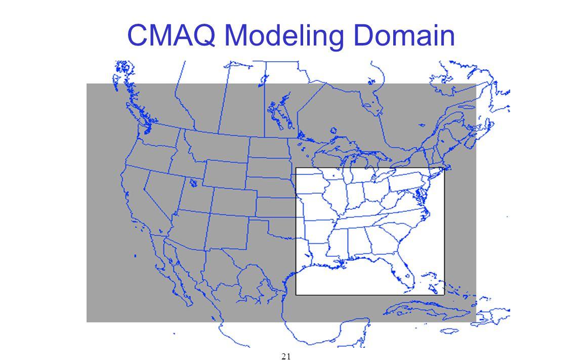 21 CMAQ Modeling Domain