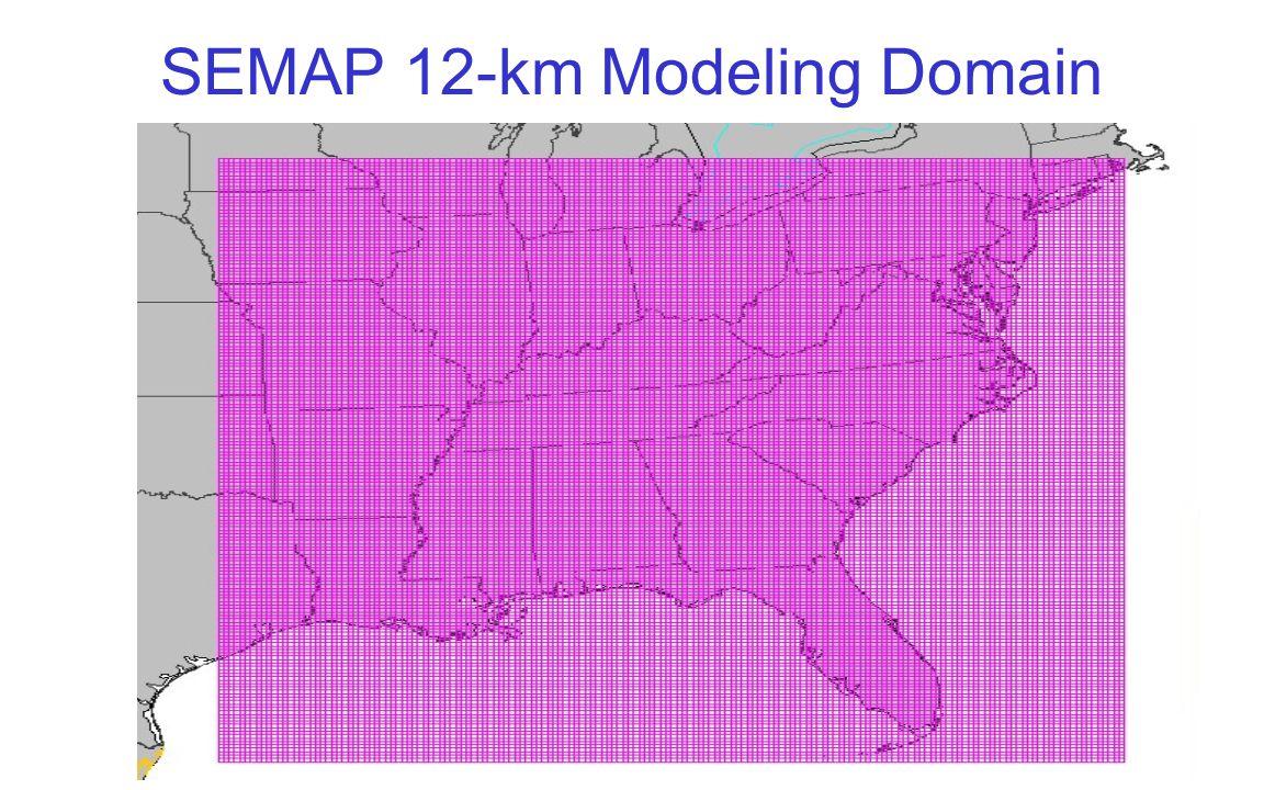 SEMAP 12-km Modeling Domain