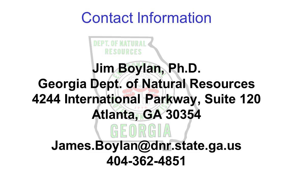 Jim Boylan, Ph.D.Georgia Dept.
