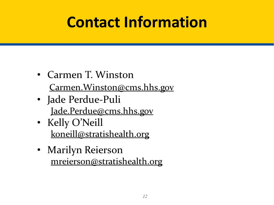 12 Contact Information Carmen T.