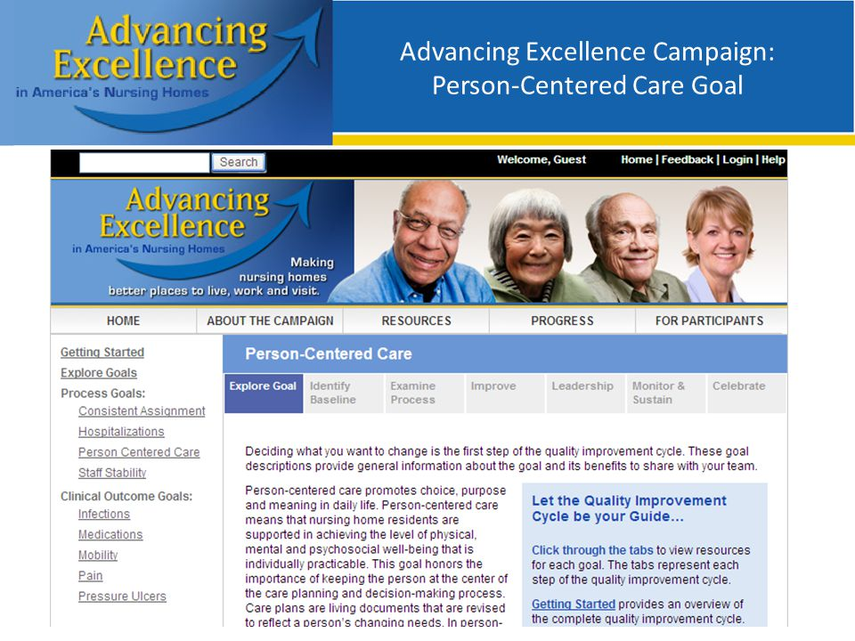 Advancing Excellence Campaign: Person-Centered Care Goal