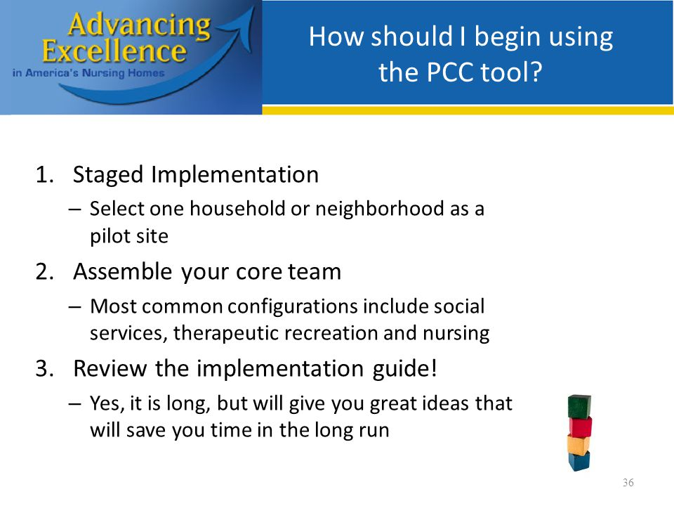 How should I begin using the PCC tool.