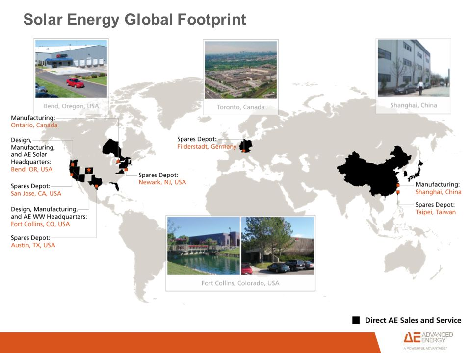 Solar Energy Global Footprint
