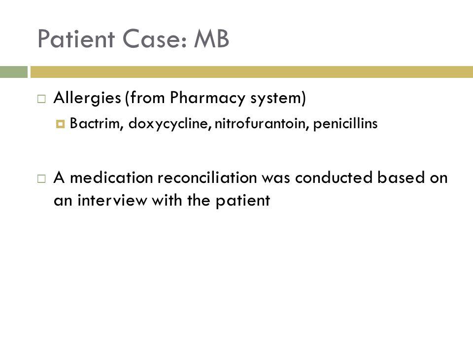 Medication discrepancies