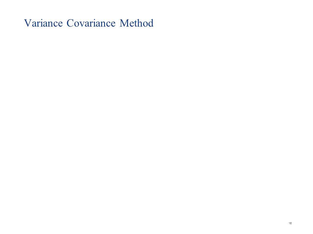 16 Variance Covariance Method