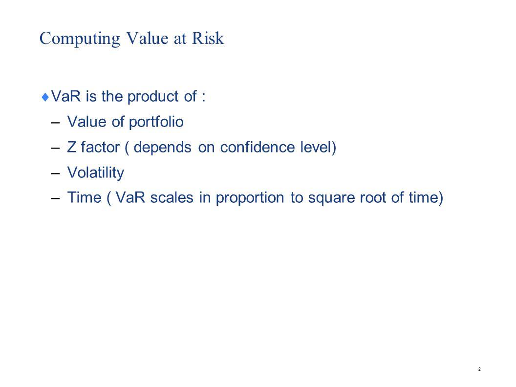 23 Problem Consider a portfolio made up of 5 year 5 % coupon government bonds.