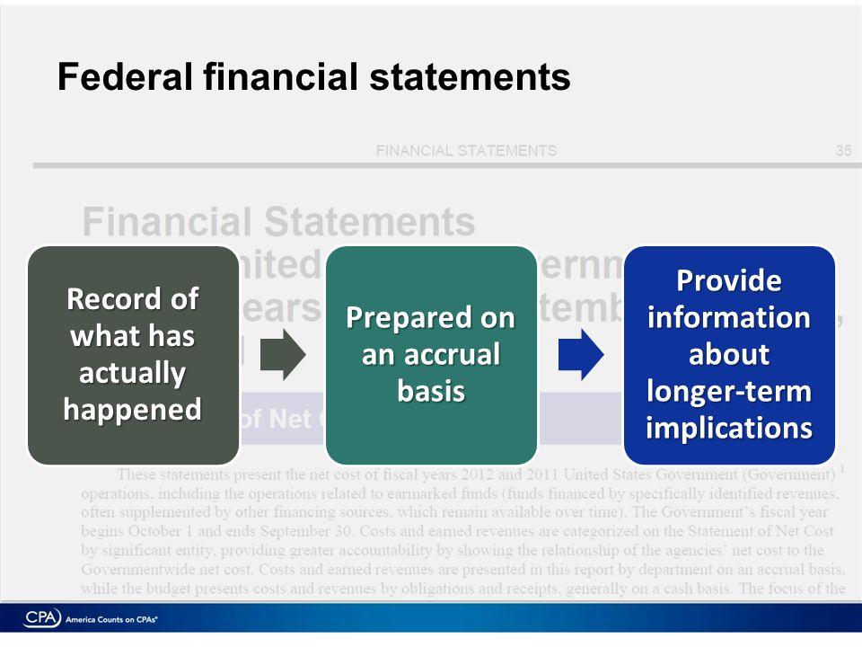 Revenue = $2.4 trillion Expenses = exceeded revenue by $1.3 trillion 2012 financial statements