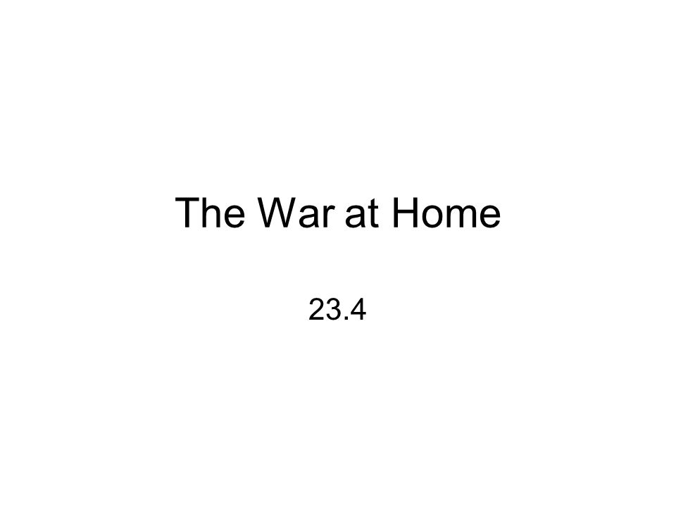 The War at Home 23.4
