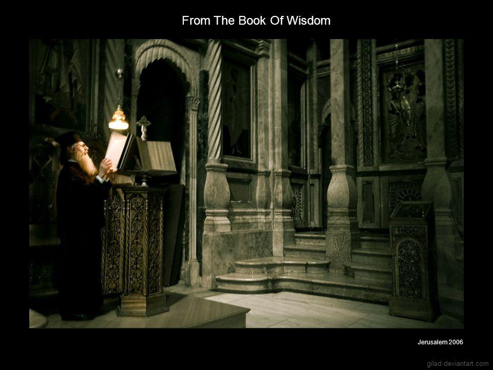 gilad.deviantart.com From The Book Of Wisdom Jerusalem 2006