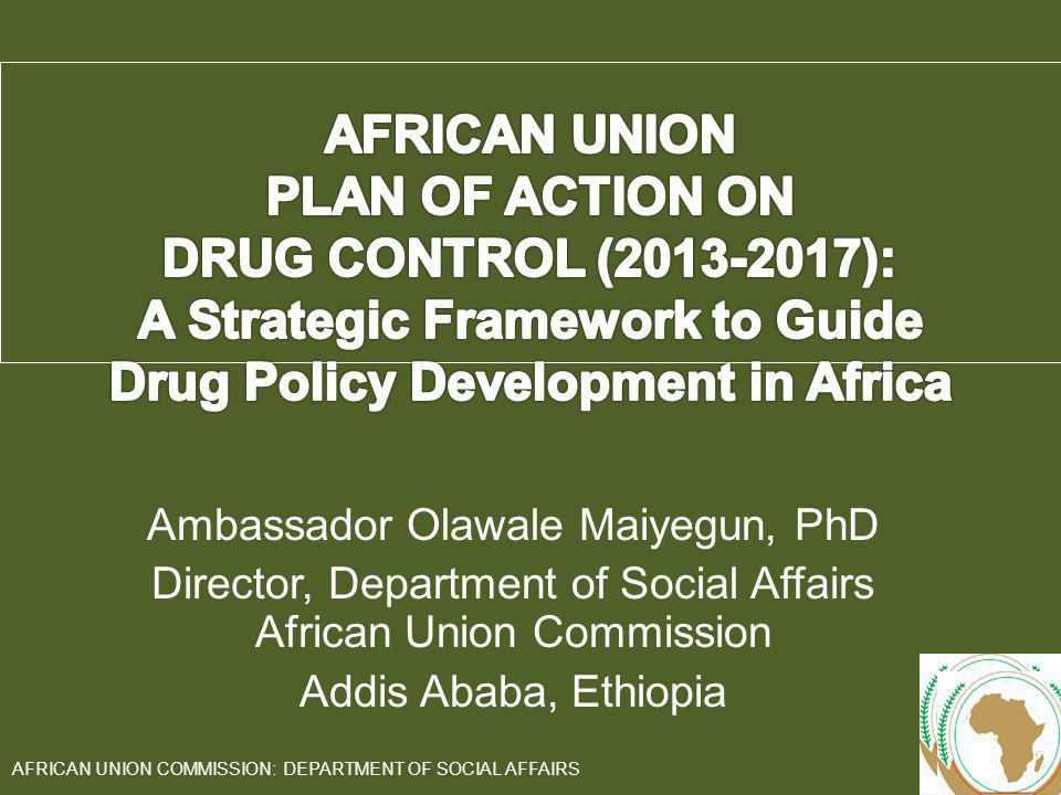 Ambassador Olawale Maiyegun, PhD Director, Department of Social Affairs African Union Commission Addis Ababa, Ethiopia 1 AFRICAN UNION COMMISSION: DEP