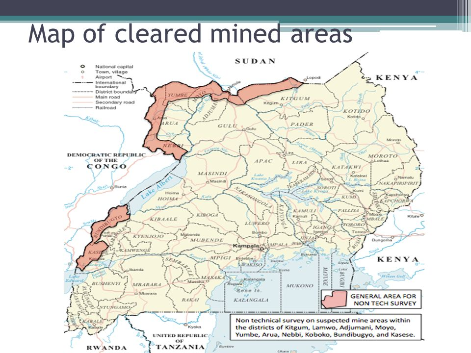 Map of cleared mined areas