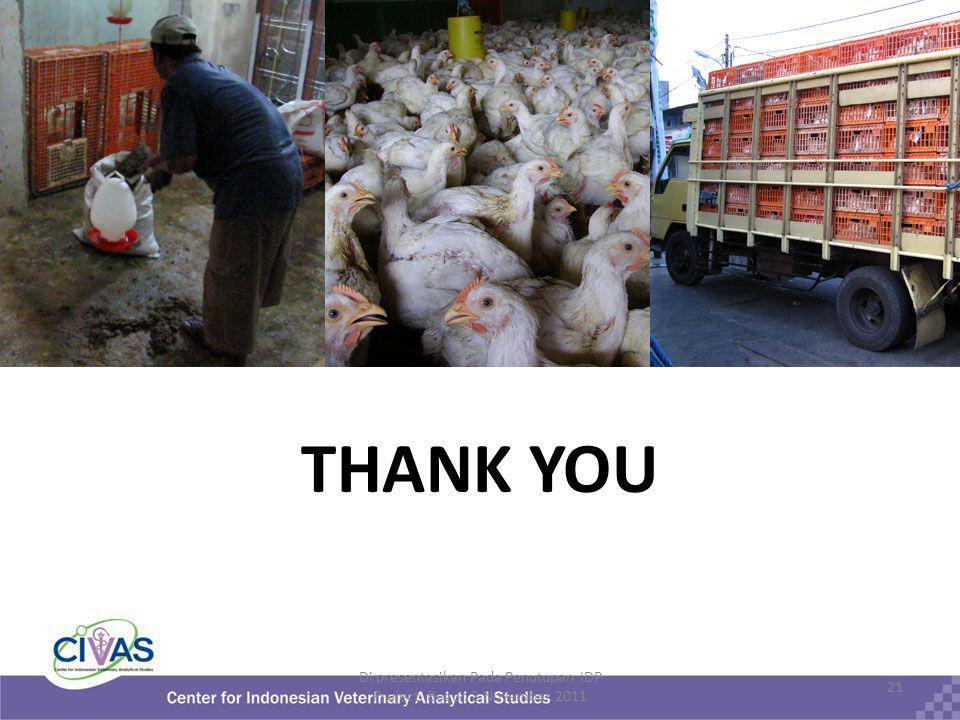 THANK YOU Di presentasikan Pada Penutupan IDP Project, Bogor. 2 November 2011 21