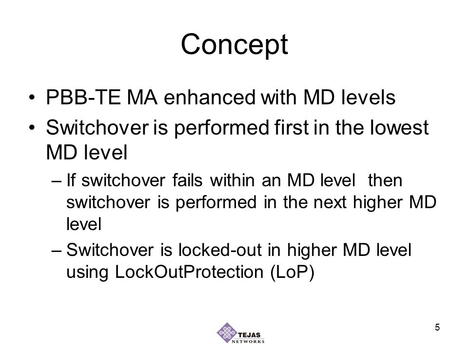 16 Benefits Simple to understand, to implement and to provision Other TESIs will be less affected by the switchover Has less stringent requirement on the network resources Some path segments need not be protected Node protection can be handled –Node failure is similar to atleast two link failure Leads to unified framework for link protection within a single PBB-TE domain Leads to unified framework for protection across multiple PBB-TE domains