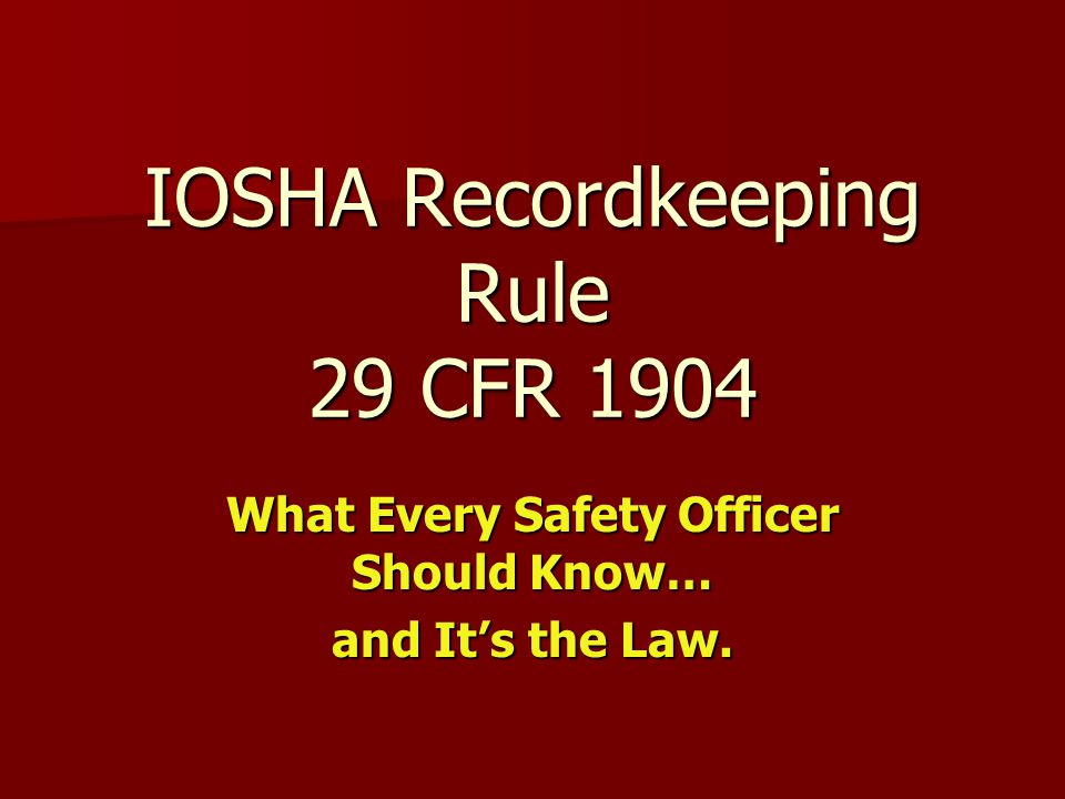 Forms OSHA recordkeeping forms must be kept for five (5) years following the year they cover.