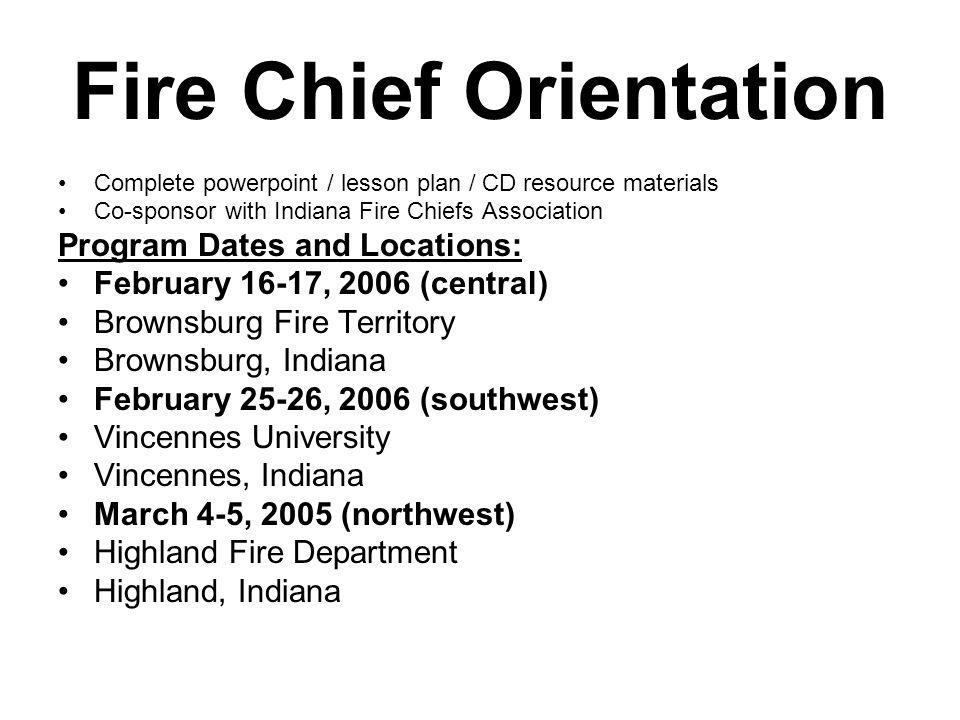 Fire Investigation Orientation Seminar One day seminar