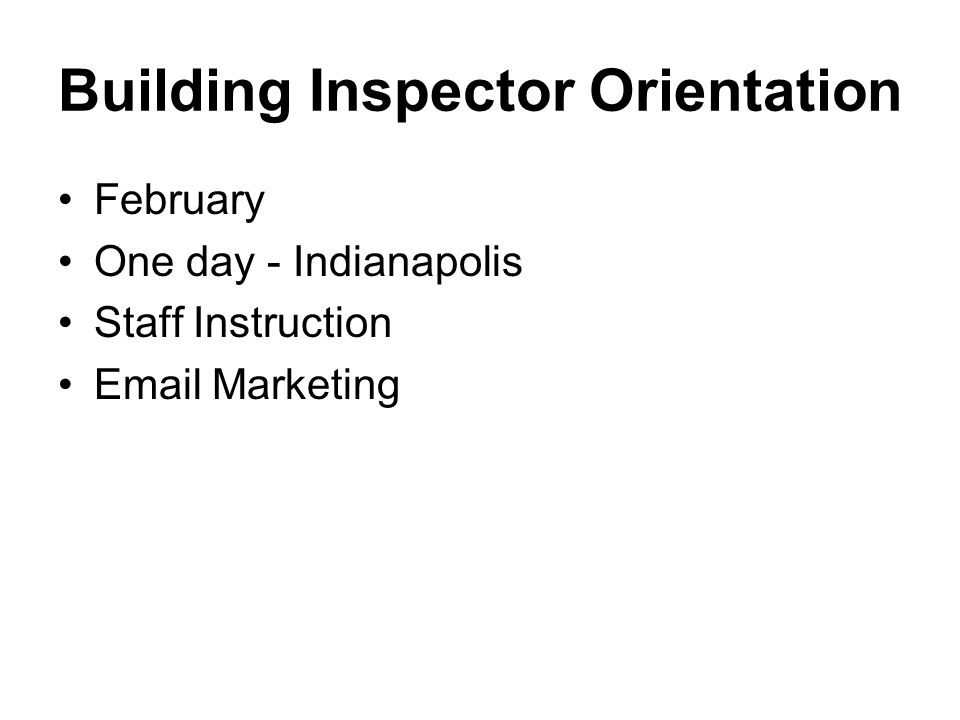 Instructor In Service January Certification rules Certification process Mandatory Training Program Weekday & Weekend One day seminar Email Marketing