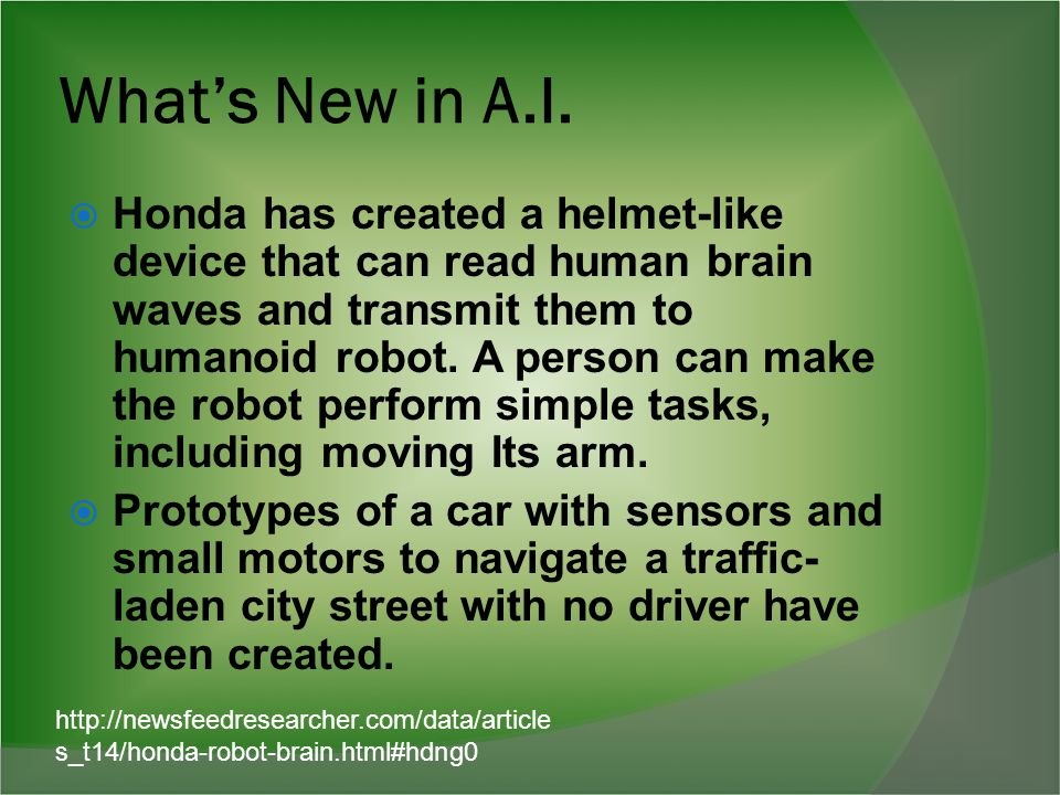 What's New in A.I.