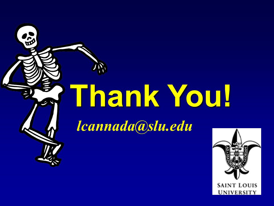 Thank You! lcannada@slu.edu