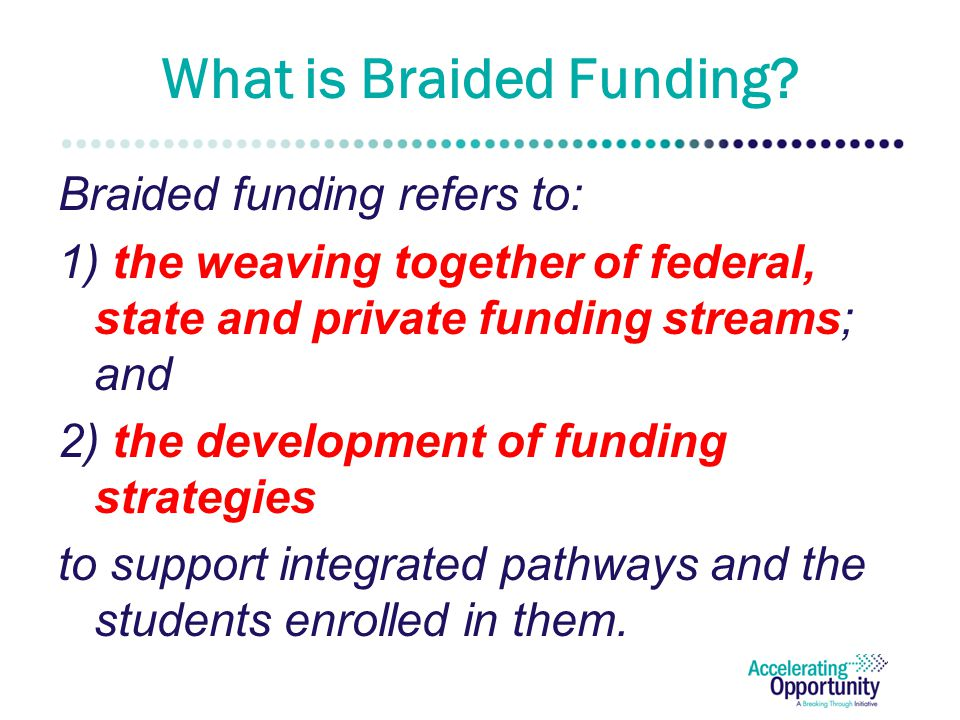 What is Braided Funding.