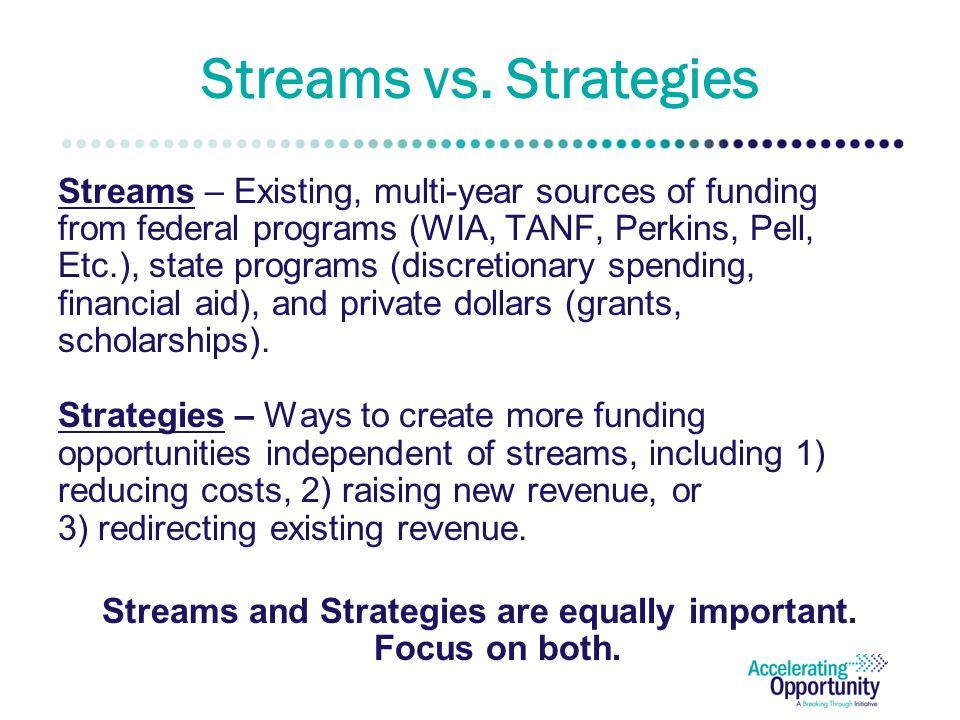 Streams vs.