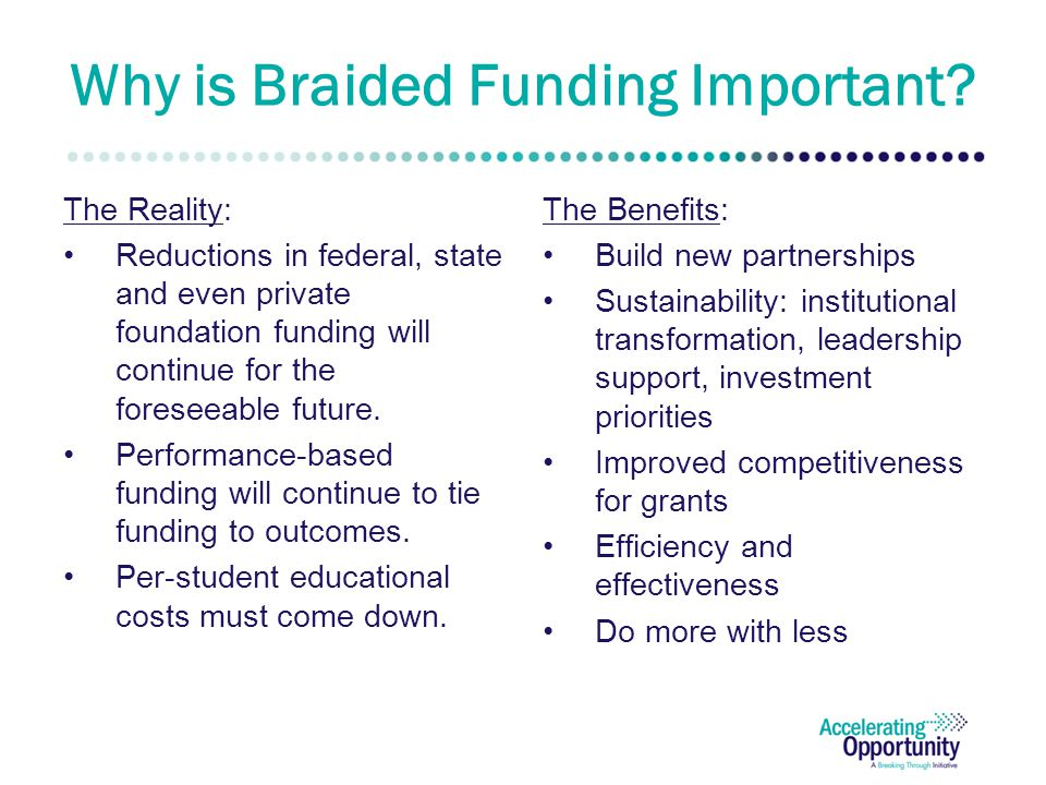 Why is Braided Funding Important.