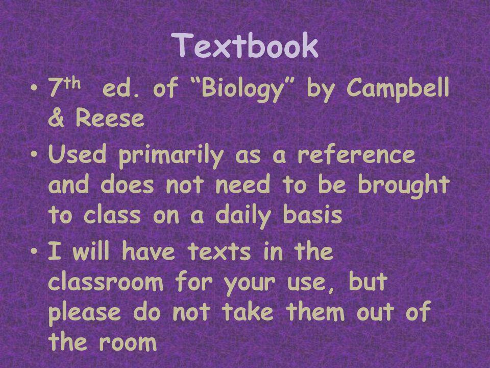 Textbook 7 th ed.