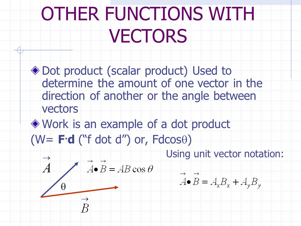 ADDITION IN UNIT VECTOR NOTATION Adding vectors this way is easy!