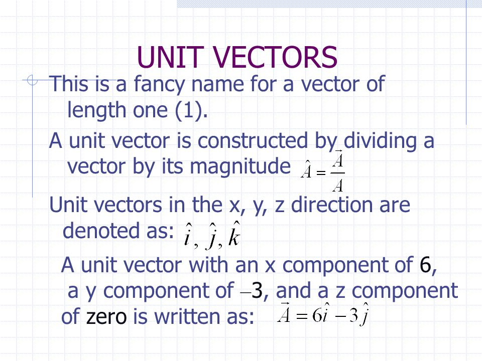 VECTOR SUBTRACTION To determine the difference between two vectors arrange them with the tails together The direction of the resultant is determined by the order of the equation A B A - BB - A A B