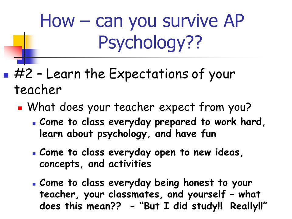 How – can you survive AP Psychology?.