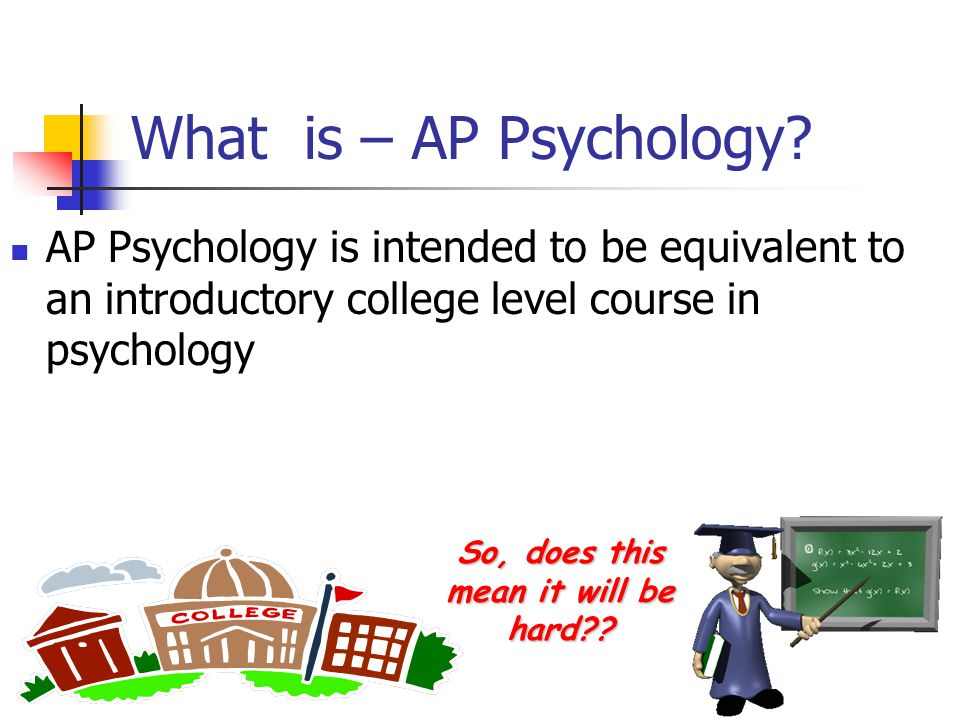 So…AP Psychology What Why Who How When