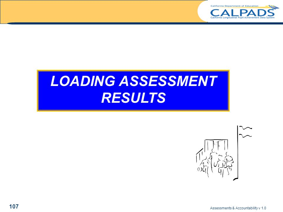 Assessments & Accountability v 1.0 107 LOADING ASSESSMENT RESULTS