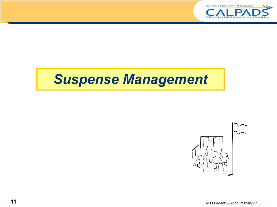 Assessments & Accountability v 1.0 11 Suspense Management