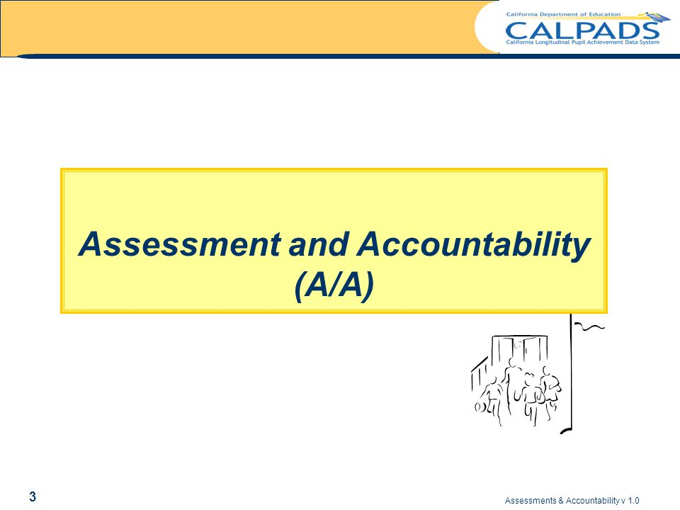 Assessments & Accountability v 1.0 44 ASSESSMENT REPORTS The following types of Assessment reports are available – Summary LEA results for STAR, CAHSEE and CELDT, including county & state comparisons – Individual student result detail supporting the summary results for STAR, CAHSEE, and CELDT – Currently enrolled students missing CAHSEE – Currently enrolled students needing CELDT The following types of AYP/API reports will be available – Students included in the AYP/API results The following types of individual student reports are available – Individual student assessment history REPORTS AVAILABLE