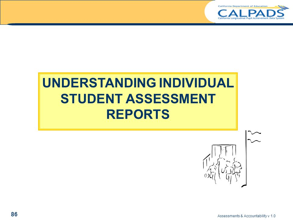 Assessments & Accountability v 1.0 86 UNDERSTANDING INDIVIDUAL STUDENT ASSESSMENT REPORTS