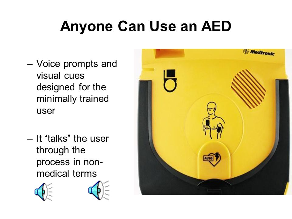 What is an Automated External Defibrillator (AED)? Used to save the life of a victim of Sudden Cardiac Arrest Specifically designed to allow non-medic