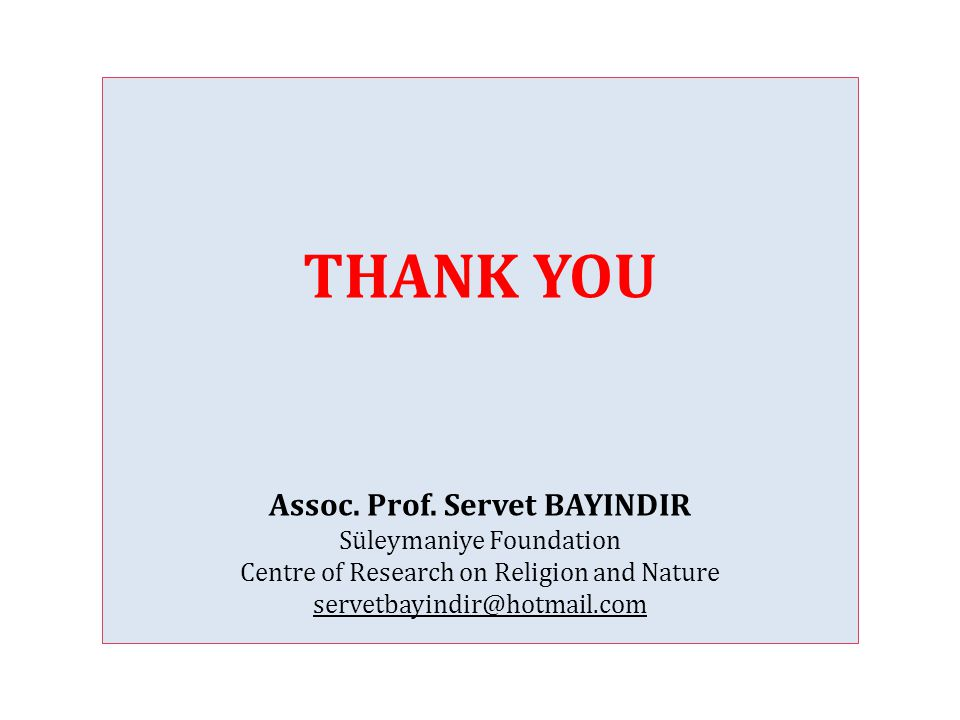 THANK YOU Assoc.Prof.