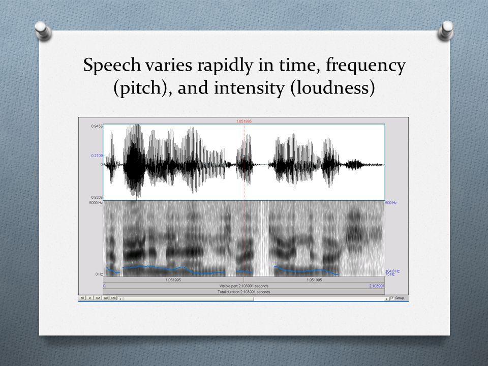 Speech is redundant – we don't need to hear every sound.