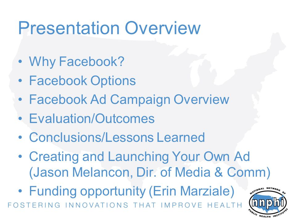 Presentation Overview Why Facebook.