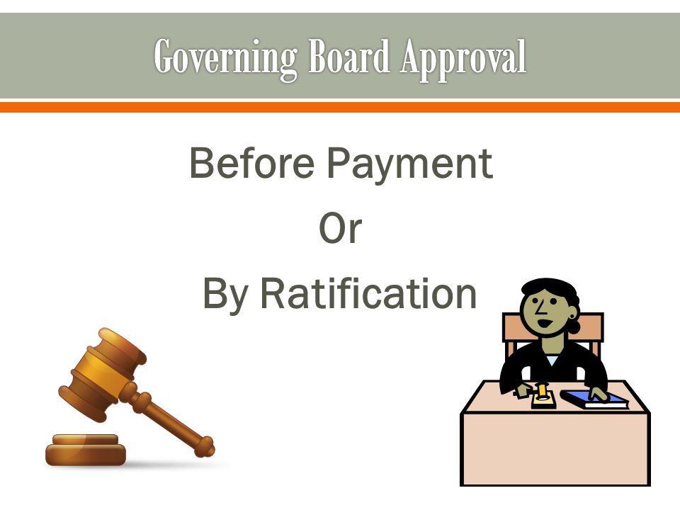 Before Payment Or By Ratification